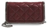 Stella McCartney 'Falabella' Quilted Faux Leather Crossbody Bag - Purple
