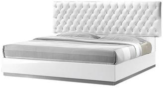 Best Master Furniture Seville White Tufted Platform Bed, Cal King