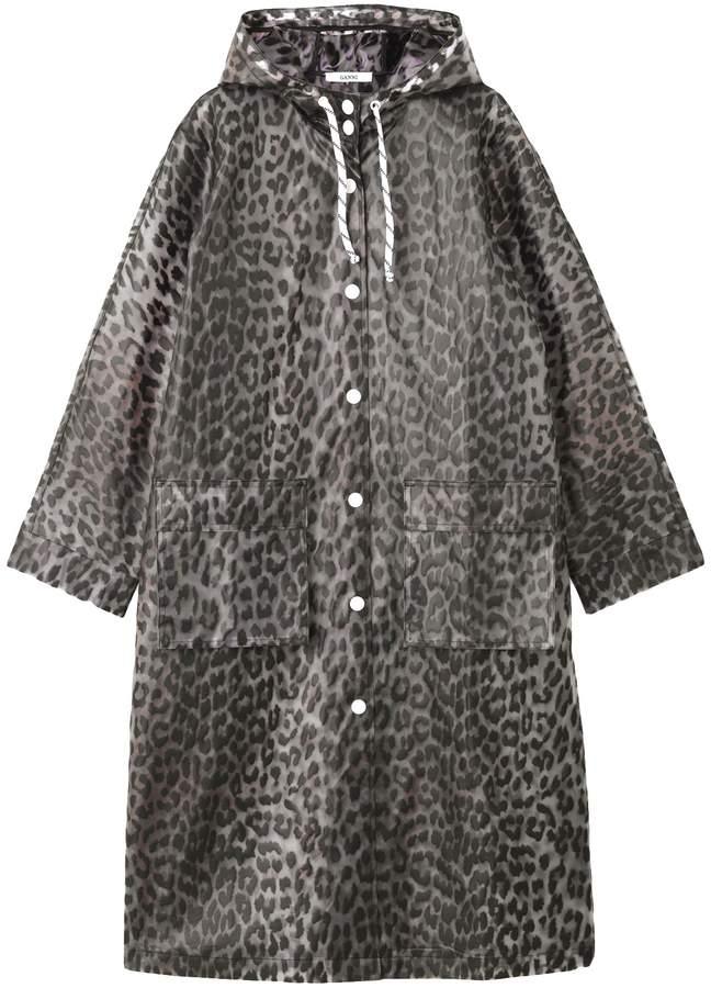 Ganni Cherry Blossom Jacket in Leopard