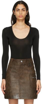 Ganni Black Underwear Bodysuit