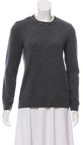 The Kooples Embellished Wool Sweater