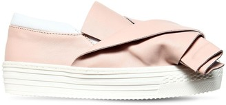 N°21 Bow Nappa Leather Slip-on Sneakers