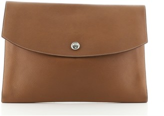 Hermes Rio Clutch Leather GM