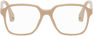 Gucci Beige Square Glasses