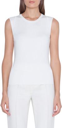 Akris Sleeveless Silk Stretch Knit Tank Top