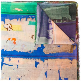 Faliero Sarti Abstract-Print Scarf