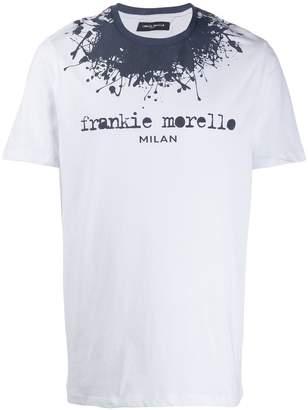 Frankie Morello paint splatter logo T-shirt
