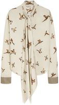 Mulberry Adelaide Blouse Chalk Allover Birds Twill