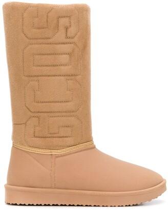 GCDS Logo Shearling Boots