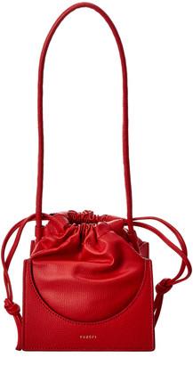 Yuzefi Pouchy Mini Leather Shoulder Bag