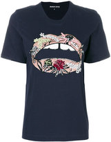 Markus Lupfer sequinned lips T-shirt
