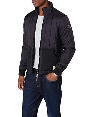 Redskins Men's H16MATPUF Down Polo Long Sleeve Jacket - Black - Large