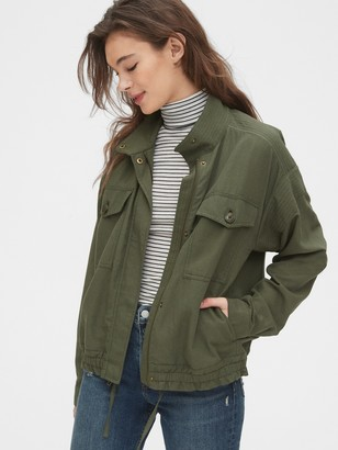 Gap Drapey Crop Utility Jacket