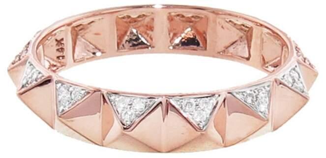 Sydney Evan Pyramid Eternity Ring - Rose Gold