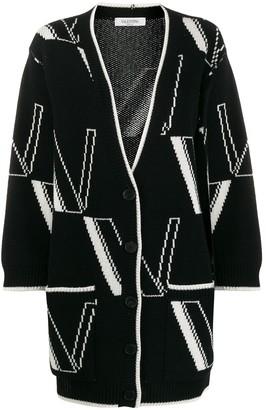 Valentino Double VLOGO V-neck cardigan