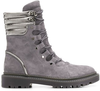 Casadei Suede Lace-Up Boots