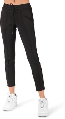 Pam & Gela Metallic Boucle Stripe Crop Pants
