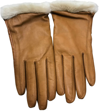 UGG Camel Leather Gloves