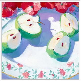 Jonathan Bass Studio Fruit Platter Ii, Decorative Framed Hand Embellished Canvas