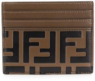 Fendi monogram leather card holder