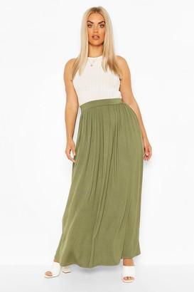 boohoo Plus Floor Sweeping Jersey Maxi Skirt