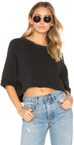 A Gold E AGOLDE Lara Oversized Crop Sweatshirt