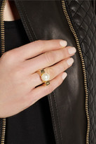 Chloé Darcey gold-tone faux pearl ring