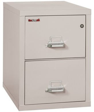 Fireproof 2-Drawer Vertical Filing Cabinet FireKing Color: Parchment