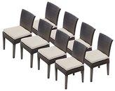 TK Classics TKC Napa Wicker Patio Dining Chairs in Beige (Set of 8)