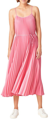 French Connection Pleated Midi Dress