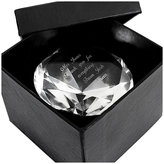 H Samuel Engraved Diamond Paperweight