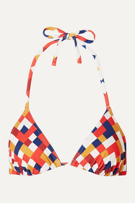 Eres Mosaic Box Printed Triangle Bikini Top - Brick