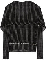 Roland Mouret Charp Cape-effect Knitted Top - Black