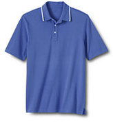 Classic Men's Big Piped Collar Mesh Polo-True Blue