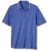 Classic Men's Regular Piped Collar Mesh Polo-White