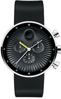 Movado 'Edge' Chronograph Silicone Strap Watch, 42Mm