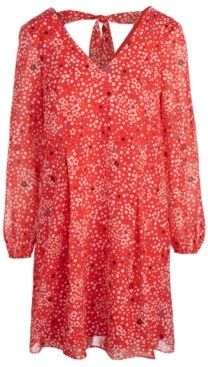 INC International Concepts Inc Graphic-Dot Printed Shift Dress, Created for Macy's