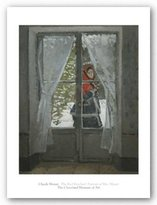 """McGaw Graphics The Red Kerchief: Portrait of Mrs. Monet, 1868-1878 by Claude Monet 25""""x20"""" Art Print Poster"""
