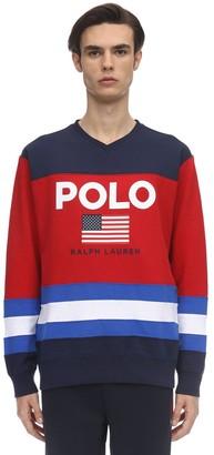 Polo Ralph Lauren Color Block Cotton Blend Sweatshirt