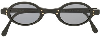 Chanel Pre Owned CC oval-frame sunglasses