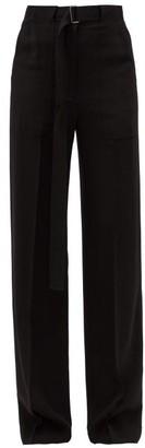 Ann Demeulemeester High-rise Wide-leg Trousers - Black