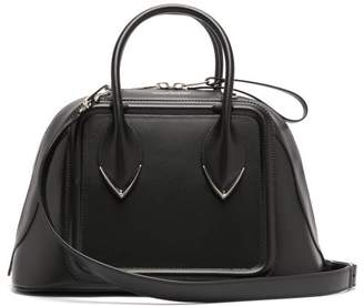 Alexander McQueen Pinter Panelled Leather Bowling Bag - Womens - Black