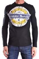 Frankie Morello Men's Black Cotton T-shirt.