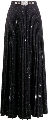 Christopher Kane Star Print Pleated Skirt
