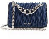Miu Miu Club Matelasse Denim Chain Shoulder Bag