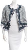 Oscar de la Renta Tweed Printed Jacket