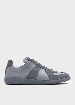 Maison Margiela Men's Replica Sneaker in Graphite, Size 41 | Leather/Suede/Rubber