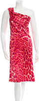 Just Cavalli Printed One-Shoulder Dress