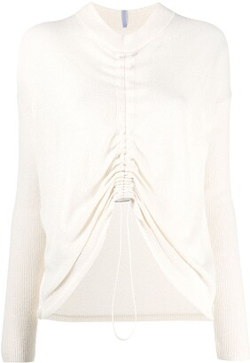 McQ Drawstring Front Fine Knit Jumper