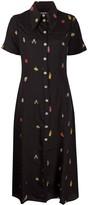 ALEXACHUNG Alexa Chung clown print shirt dress